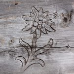 wood photo laser engraving