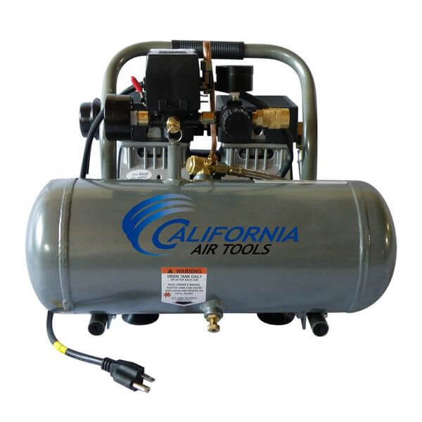 California Air Tools Ultra Quiet and Oil-Free 1.0 Hp 1.6-Gallon Aluminum Tank Air Compressor