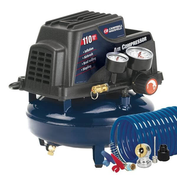 Campbell Hausfeld 1-Gallon Oil-Free Pancake Air Compressor with Accessory Kit