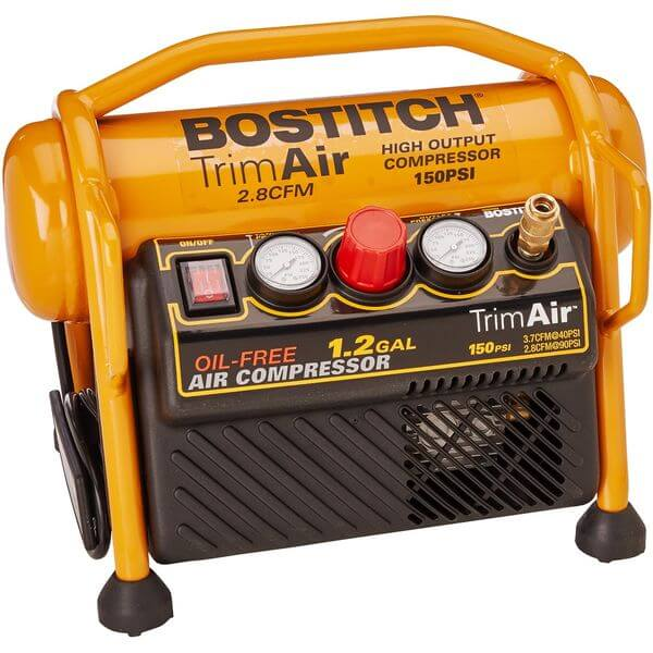 BOSTITCH 1.2 Gallon Oil-Free High-Output Trim Compressor