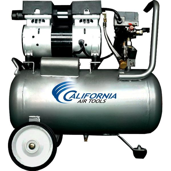 California Air Tools Ultra Quiet and Oil-Free 1.0 Hp 6.3-Gallon Steel Tank Air Compressor