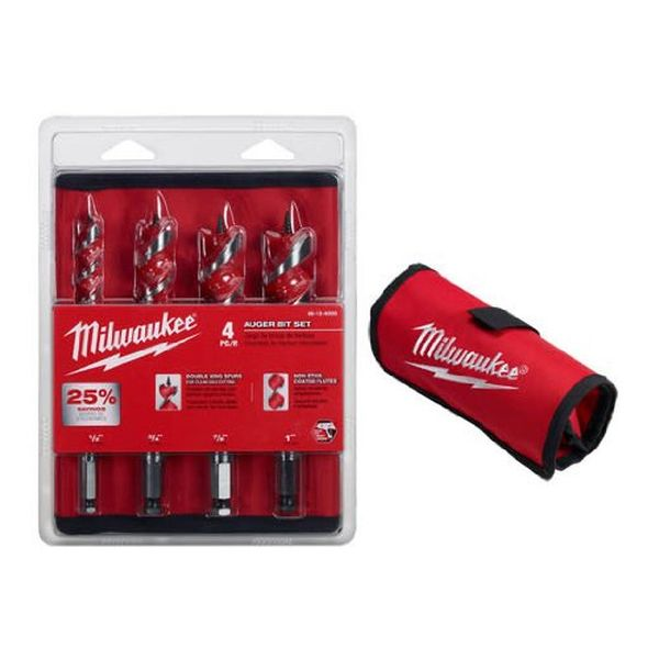 Milwaukee 4 Piece Auger Set