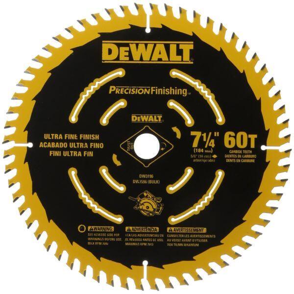 DEWALT 7-1/4-Inch 60T Precision Finishing Saw Blade