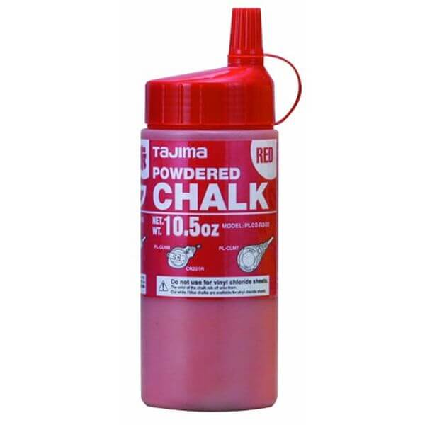 Tajima Red Ultra Fine Snap Line Chalk, Red