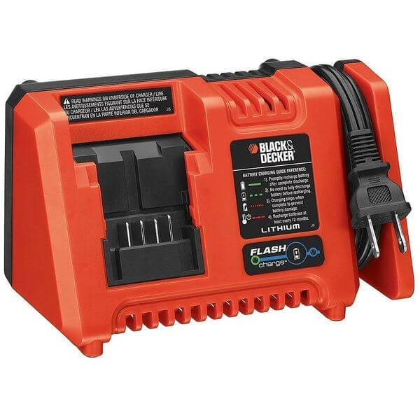Black & Decker Lithium Ion Fast Charger with Flash Charge
