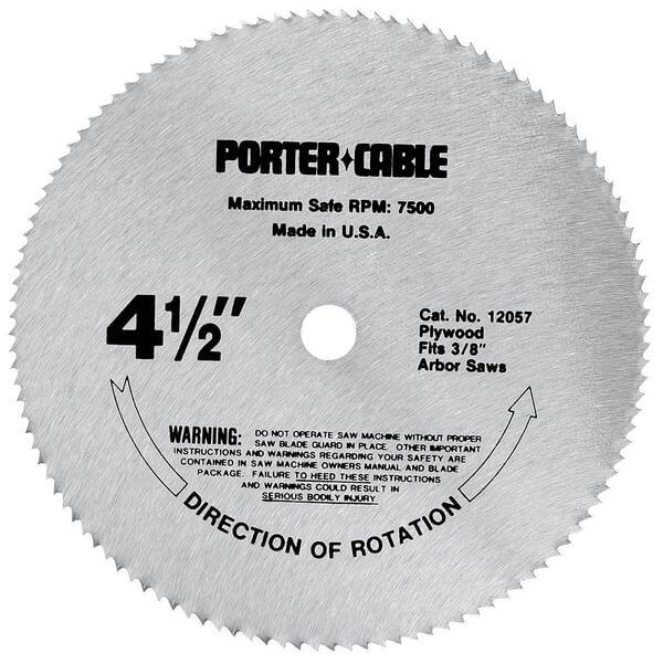 PORTER-CABLE 4-1/2-Inch 120 Tooth TCG Plywood Cutting Saw Blade with 3/8-Inch Arbor
