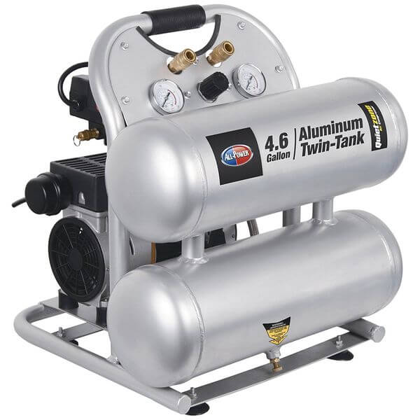 All-Power America Quietzone 1.5 HP Air Compressor with Aluminum Tank
