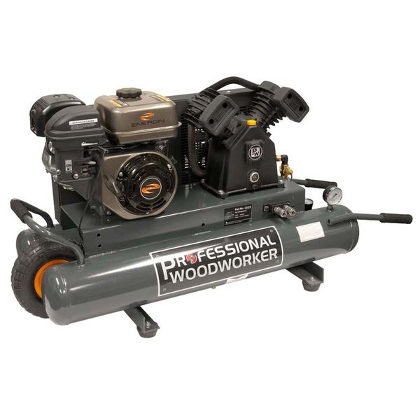 Professional Woodworker 6.5 HP Gas Powered Air Compressor