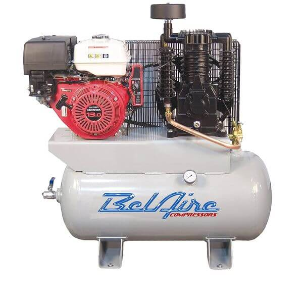 BelAire 11 HP 30 Gallon Gas Driven Honda Engine Compressor