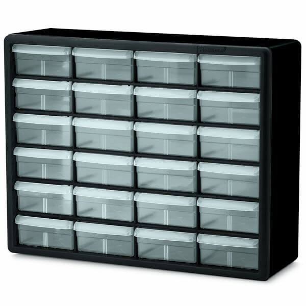 Akro-Mils 24 Drawer Plastic Parts Storage Hardware and Craft Cabinet