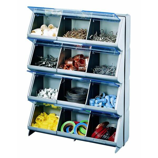 Stack-On Clear View 12-Bin Organizer