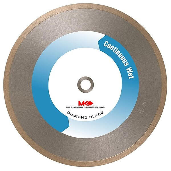 MK Diamond 8-Inch Wet Cutting Continuous Rim Supreme Metal Bond Blade for Glass