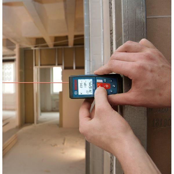 Bosch Laser Distance Measurer with 165-Feet Range and Backlit Display