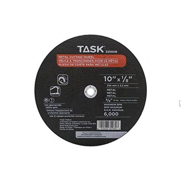 Task Tools 10-Inch by 1/8-Inch Metal Cutting Wheel, 5/8-Inch Arbor