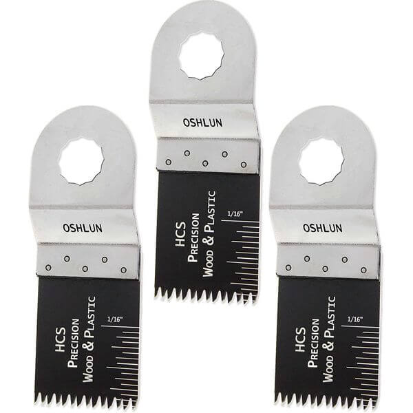 Oshlun 1-1/3-Inch Precision Japan HCS Oscillating Tool Blade for Rockwell SoniCrafter, 3-Pack