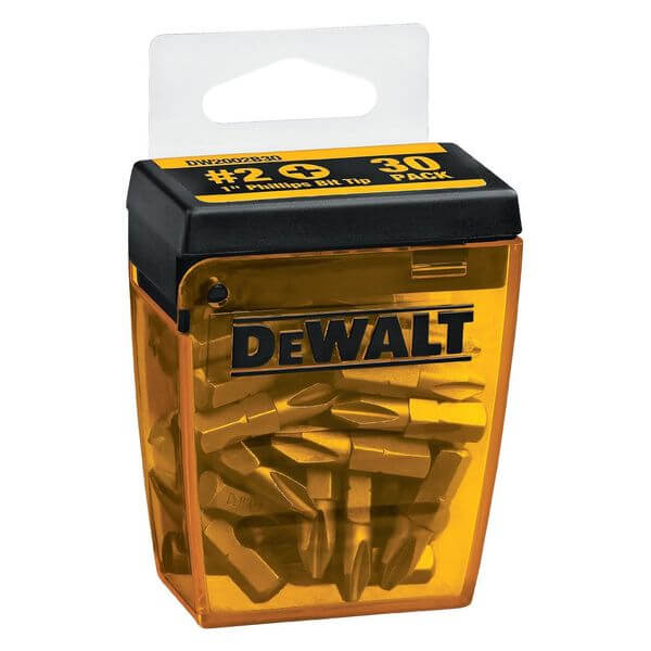 DEWALT #2 Phillips 1-Inch Bit Tips with Bit Box (30-Pack)