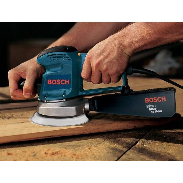 Bosch 3.3 Amp 6-Inch Hook-and-Loop Random-Orbit Variable-Speed Sander/Polisher with Dust Canister