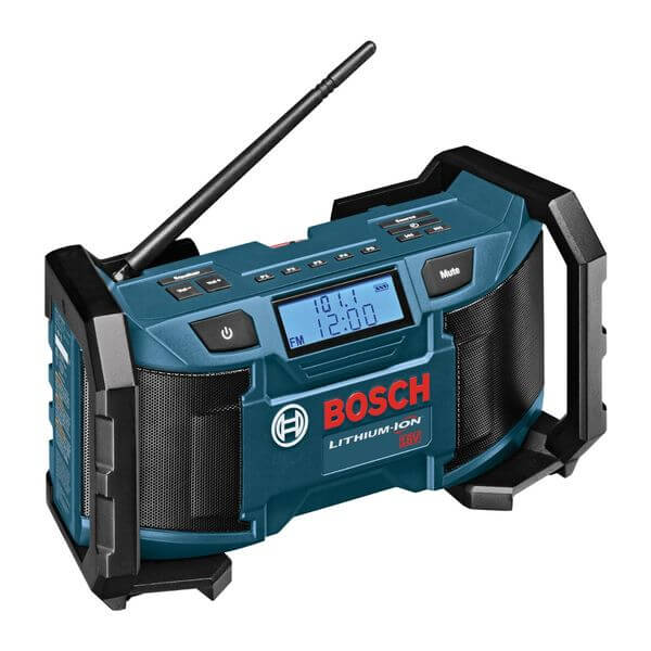 Bosch 18-Volt Lithium-Ion or 120V Compact AM/FM Radio with MP3 Player Connection Bay