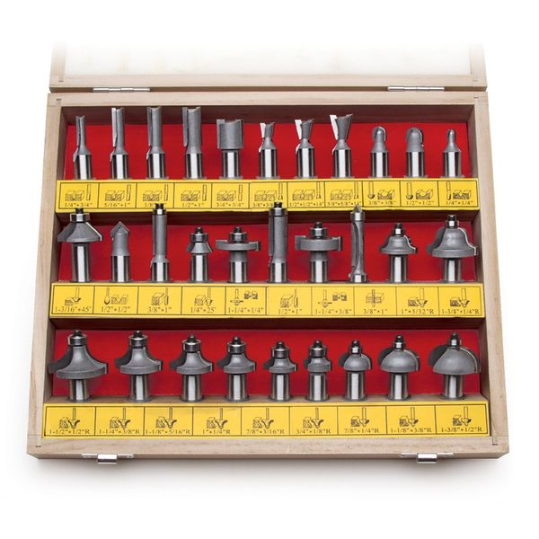 MLCS 1/2-Inch shank Carbide-tipped Router Bit Set, 30-Piece