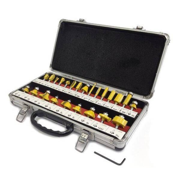 24 Piece Router Bit Set w/ Aluminum Carry Case
