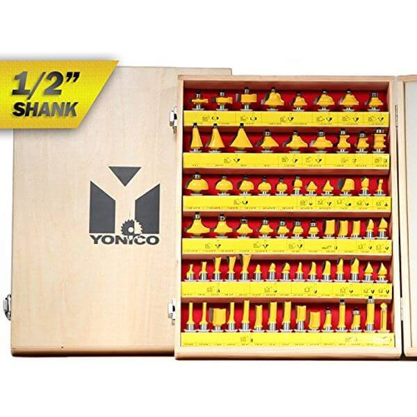 70 Bit Professional Quality Carbide Router Bit Set