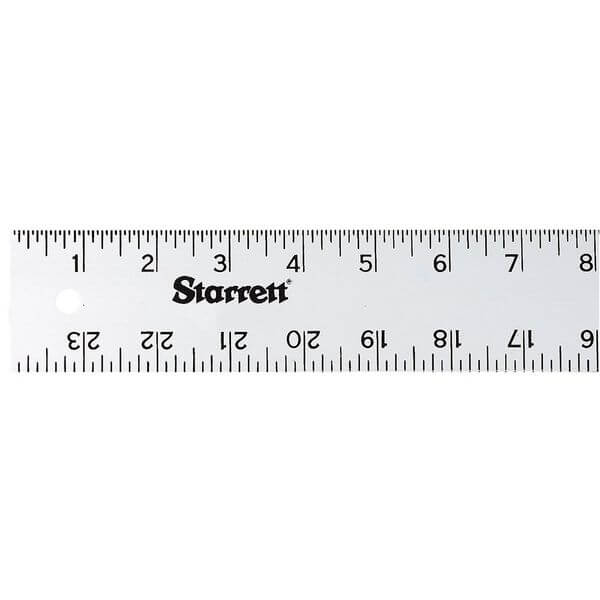 Starrett Anodized Aluminum Straight Edge Rule