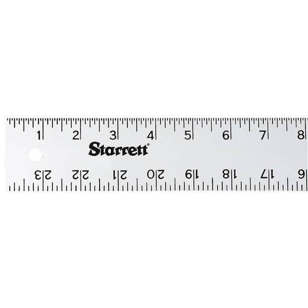 Starrett Anodized Aluminum Straight Edge Rule