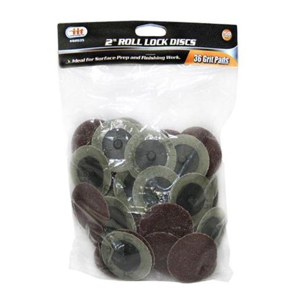IIT Tool 2-inch 36 Grit Roll Lock Sanding Discs (50 pc)