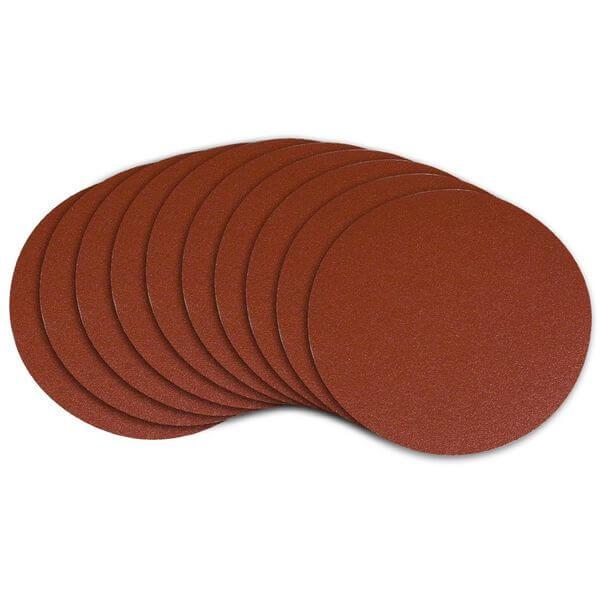 POWERTEC 6-Inch PSA 60 Grit Aluminum Oxide Self Stick Sanding Disc, 10-Pack