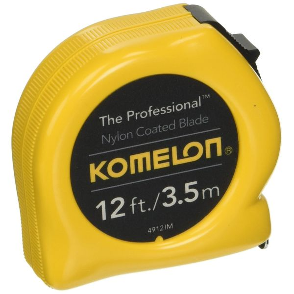 Komelon The Professional 12-Foot Inch/Metric Scale Power Tape