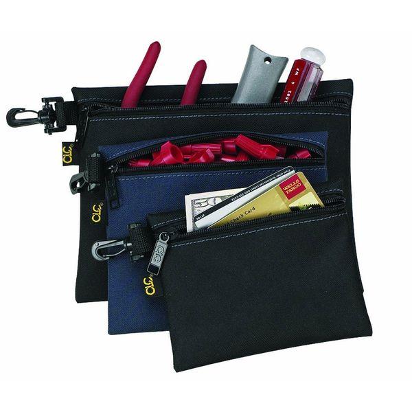 Custom Leathercraft Multi-Purpose Clip-on Zippered Poly Bags