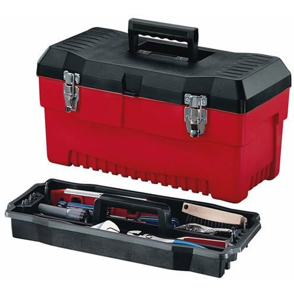 Stack-On 19-Inch Pro Tool Box, Black/Red