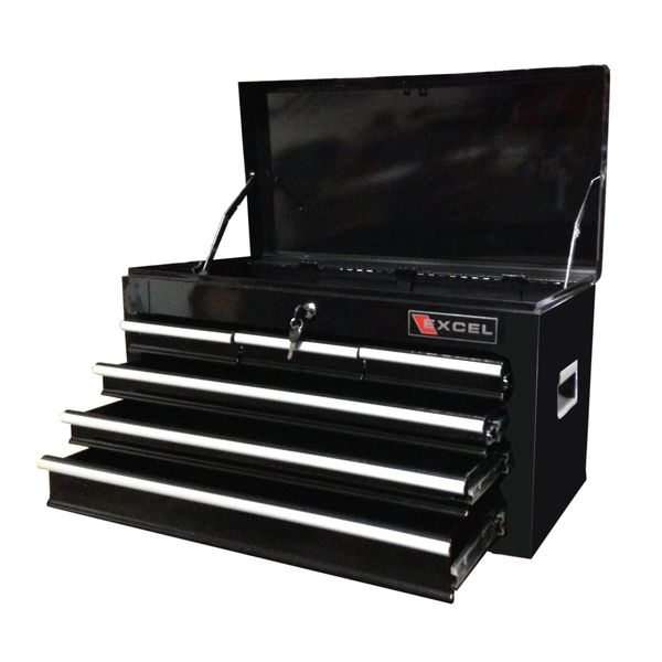 Excel Black 26-Inch Steel Chest