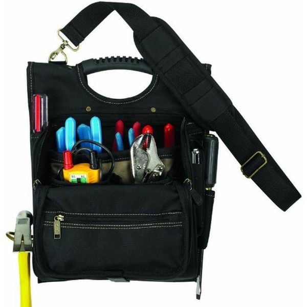 Custom LeatherCraft 21-Pocket Zippered Professional Electricians Tool Pouch