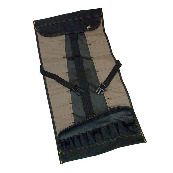 Custom LeatherCraft 32-Pocket Socket Tool Roll Pouch