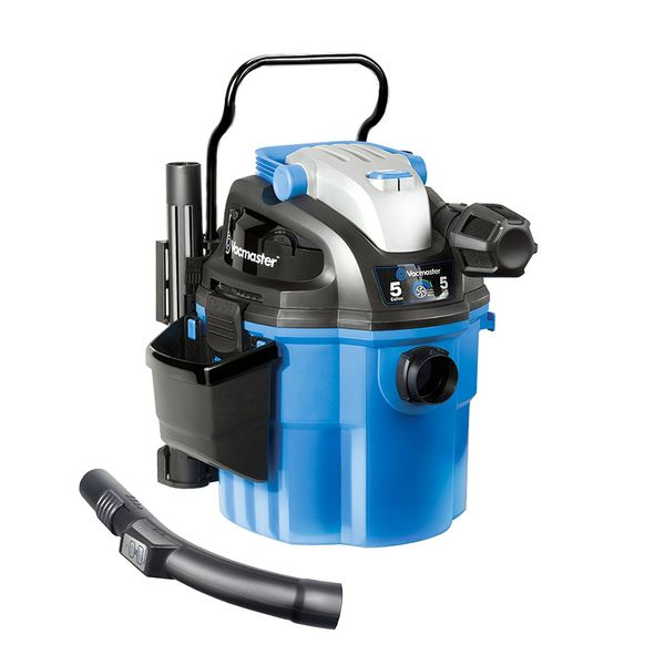 Vacmaster Wall Mount Wet/Dry Vacuum Powered by Industrial 2-Stage Motor with Remote Control, 5 Gallon