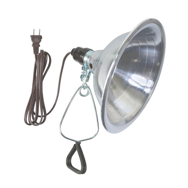 Woods 18/2-Gauge SPT-2 Clamp Lamp with 8.5-Inch Reflector, 150-Watt, 6-Foot Cord